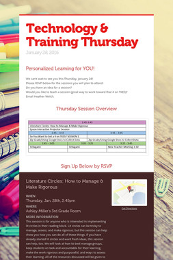 Technology & Training Thursday