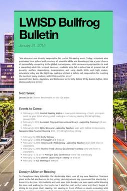LWISD Bullfrog Bulletin