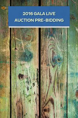 2016 GALA LIVE AUCTION PRE-BIDDING