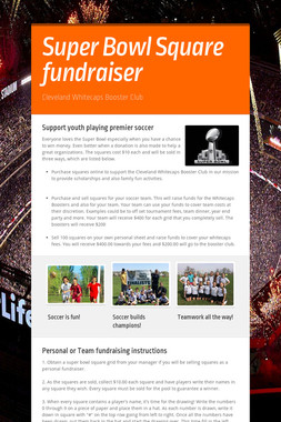 Super Bowl Square fundraiser