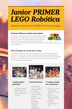 Junior PRIMER LEGO Robótica