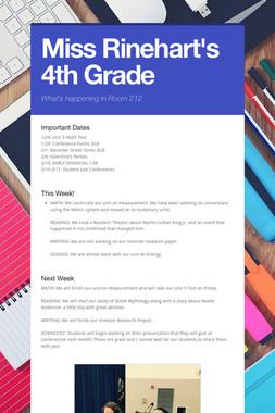 Miss Rinehart's 4th Grade