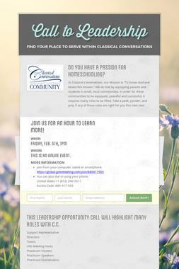 Call to Leadership