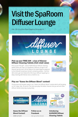 Visit the SpaRoom Diffuser Lounge