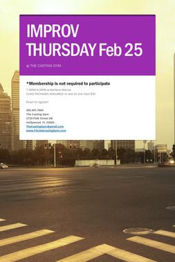 IMPROV THURSDAY Feb 25