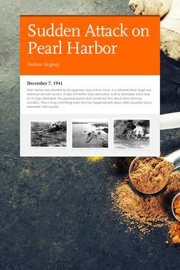 Sudden Attack on Pearl Harbor
