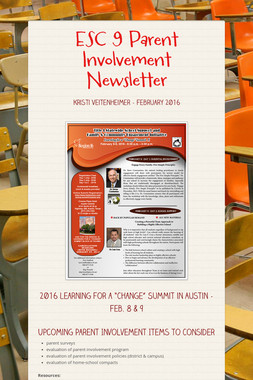 ESC 9 Parent Involvement Newsletter