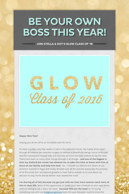 Be Your Own Boss This Year!