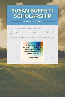 Susan Buffett Scholarship