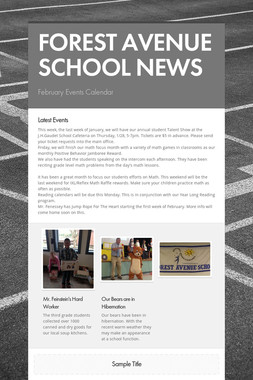 FOREST AVENUE SCHOOL NEWS