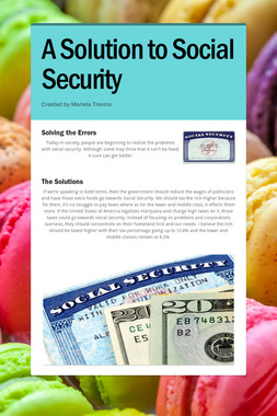 A Solution to Social Security