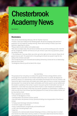 Chesterbrook Academy News