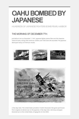 OAHU BOMBED BY JAPANESE