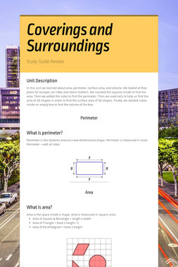 Coverings and Surroundings