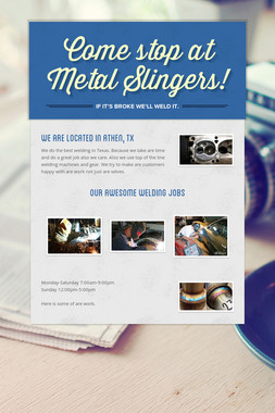 Come stop at Metal Slingers!
