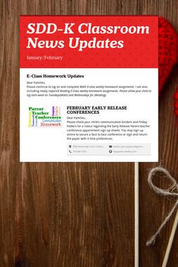 SDD-K Classroom News Updates