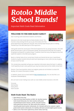 Rotolo Middle School Bands!