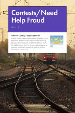 Contests/Need Help Fraud