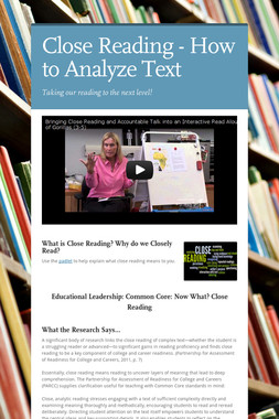 Close Reading - How to Analyze Text