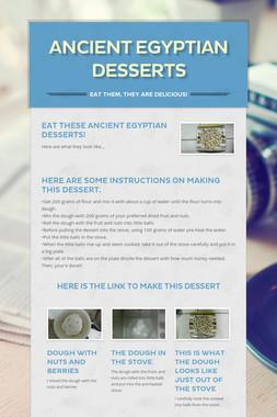 Ancient Egyptian desserts