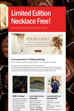 Limited Edition Necklace Free!