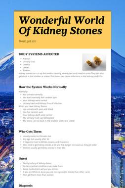 Wonderful World Of Kidney Stones