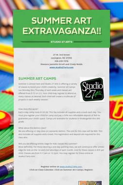 Summer Art Extravaganza!!