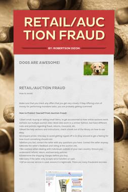 Retail/Auction Fraud