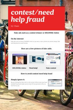 contest/need help fraud