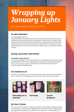 Wrapping up January Lights