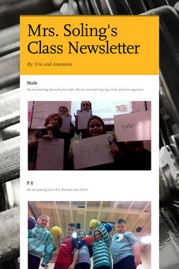 Mrs. Soling's Class Newsletter