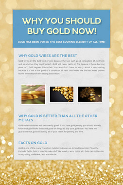 Why you should buy gold now!