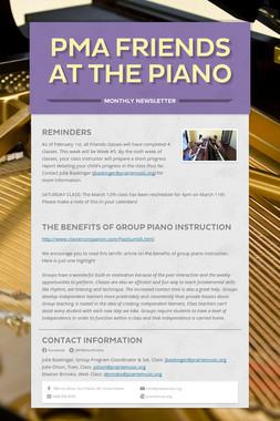 PMA Friends at the Piano