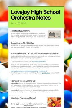 Lovejoy High School Orchestra Notes