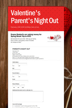 Valentine's Parent's Night Out