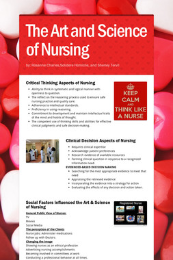 The Art and Science of Nursing