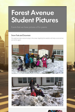 Forest Avenue Student Pictures