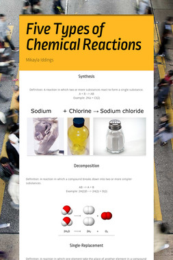 Five Types of Chemical Reactions
