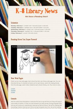 K-8 Library News