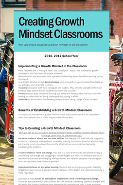 Creating Growth Mindset Classrooms