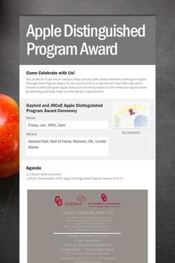Apple Distinguished Program Award