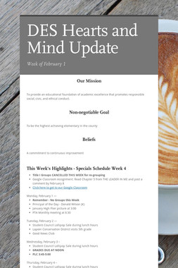 DES Hearts and Mind Update