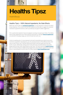 Healths Tipsz
