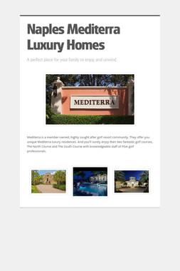 Naples Mediterra Luxury Homes