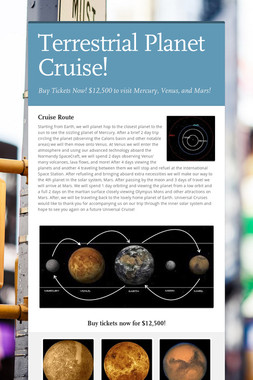 Terrestrial Planet Cruise!