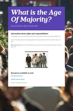 What is the Age Of Majority?