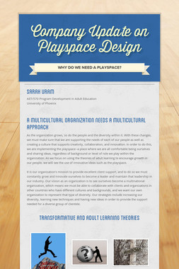 Company Update on Playspace Design