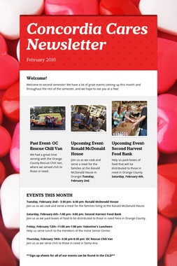 Concordia Cares Newsletter