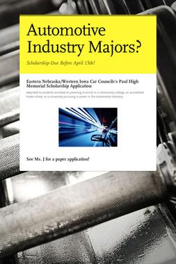 Automotive Industry Majors?
