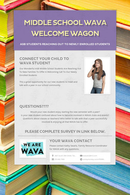 Middle School WAVA Welcome Wagon